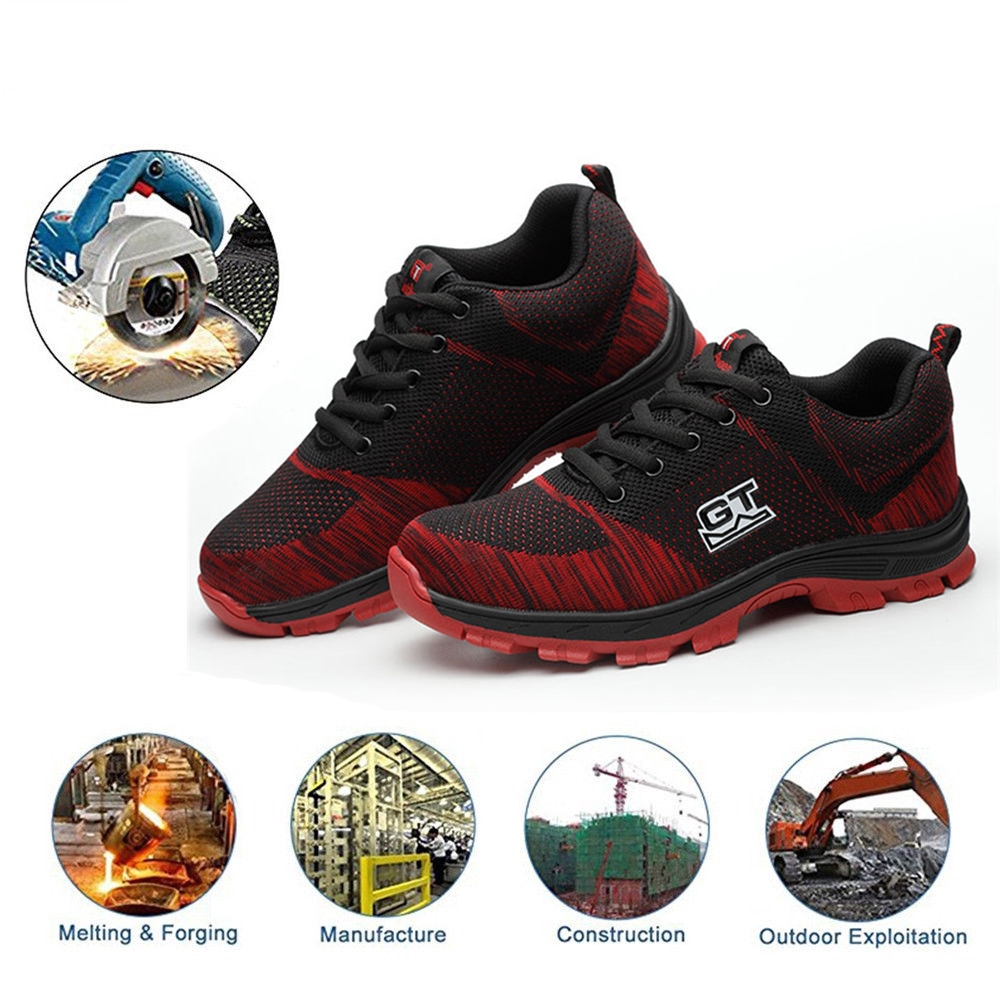 Atrego Women S Safety Steel Toe Work Boots Outdoor Hiking Indestructible Shoes Shopee Singapore