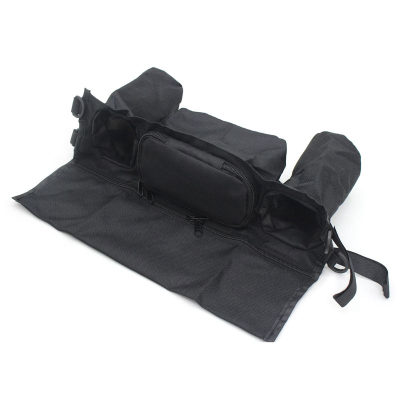 Portable Baby Cart Stroller Bag Organizer Basket Canvas Pram Cup Bag