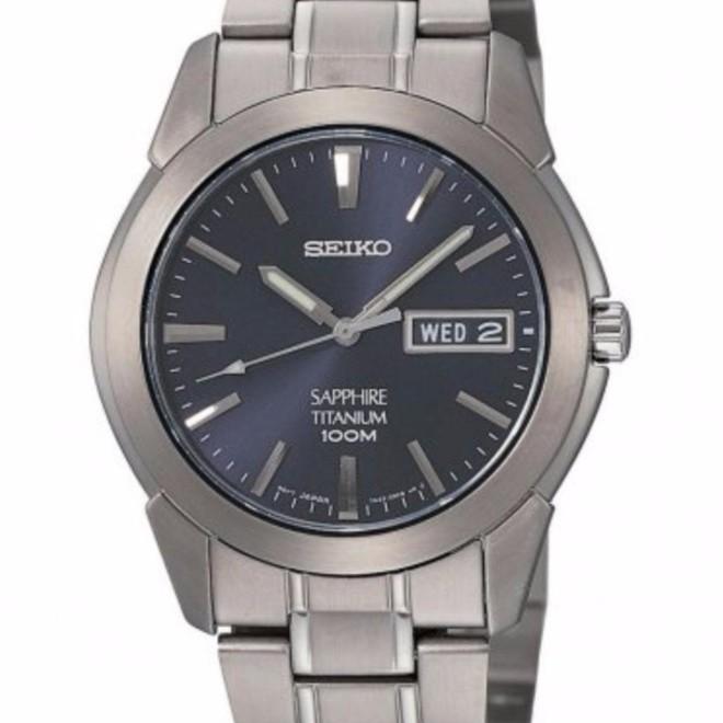 online store 47733 0b0b9 Seiko Titanium Sapphire Crystal Analog Dress Watch SGG729P1 ...