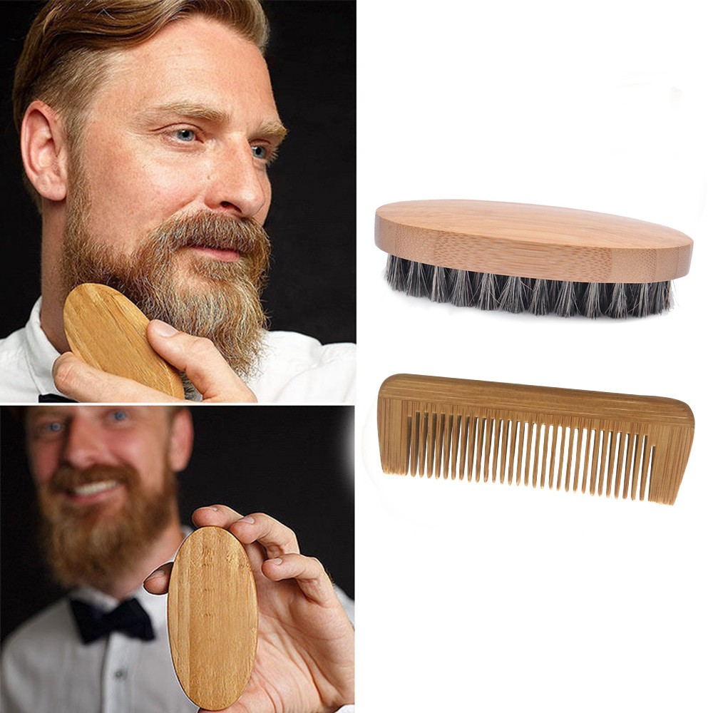 Shaving & Hair Removal Search For Flights 1pc Men Beard Brush Wood Handle Face Mustache Styling Massage Comb Cleaner Beauty & Health