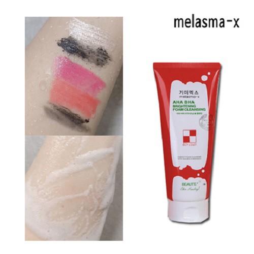 melasma-x]AHA BHA Brightening Foam Cleansing 160ml [K-beauty]   Shopee  Singapore