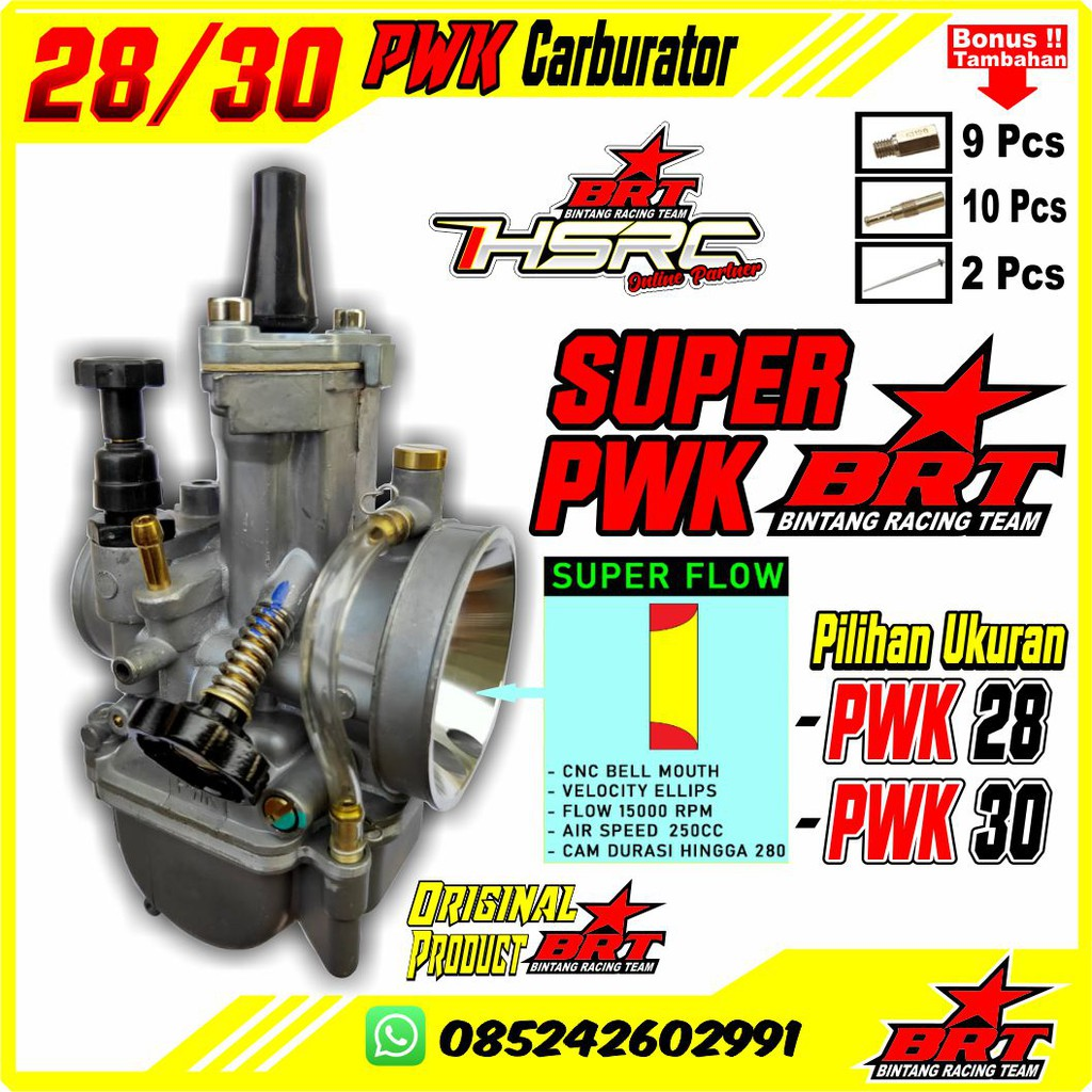 KARBURATOR PWK 30 28mm BRT Racing Package Super Flow KARBU