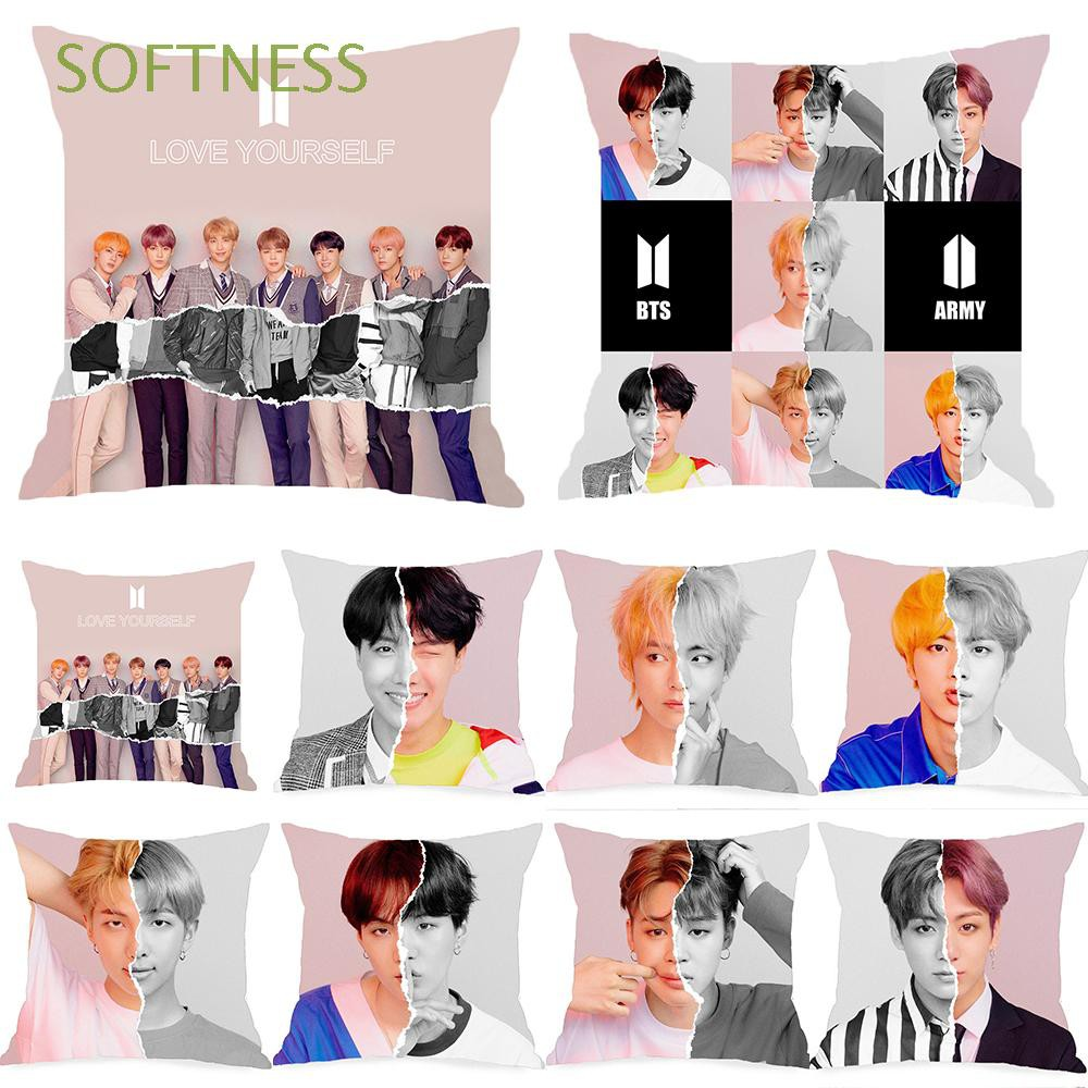 home decor bedding k-pop fans army love yourself bts pillow case