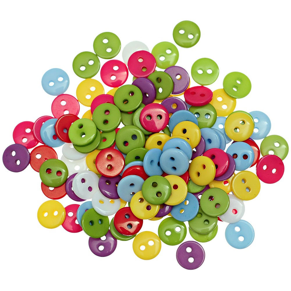 100pcs Resin buttons sewing scrapbooking mixed color 4-holes Decorative 13mm