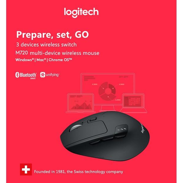 Logitech M720 TRIATHLON Multi-device Wireless Mouse   Shopee Singapore