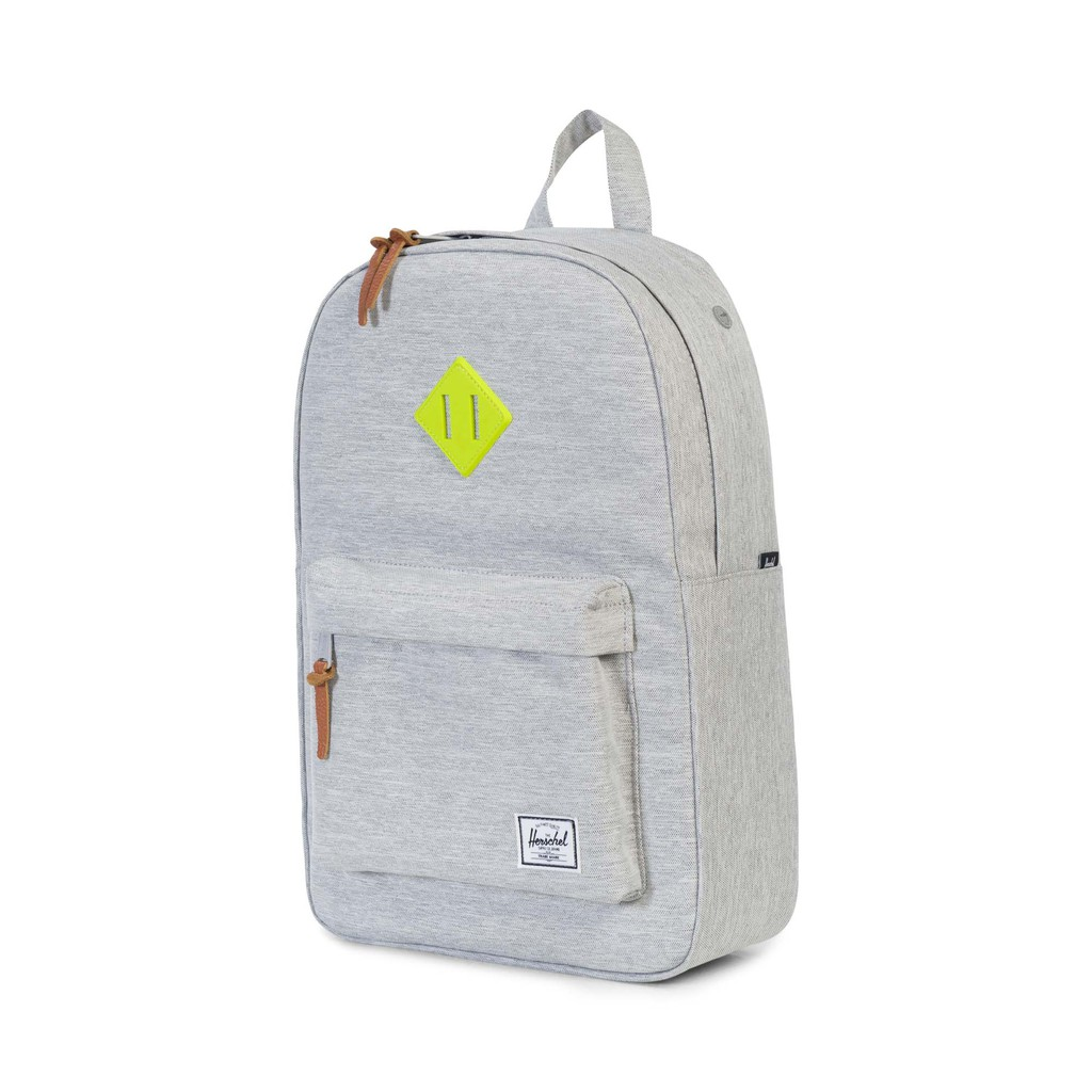fca8091f1d Herschel Heritage M - Light Grey Crosshatch Acid Lime Rubber ...
