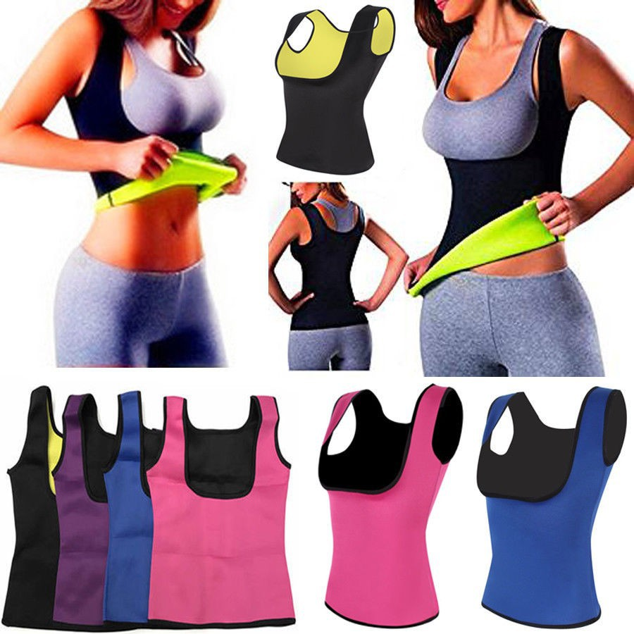 Sauna Thermo Shaper Sweat Women Waist Trainer Belt Slimming Vest Neoprene Corset