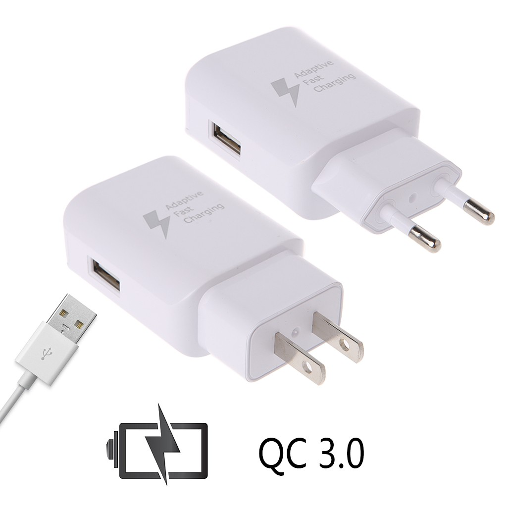 QC 3.0 Quick Charge Home Travel AC Wall USB Charger Power Adapter EU US Plug | Shopee Singapore