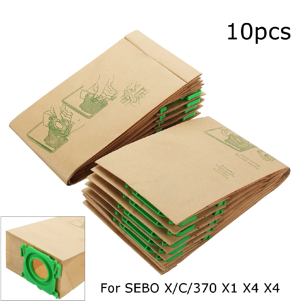 Genuine Sebo Vacuum Cleaner Hoover Bags X C 370 X1 X4 X4 X7 Pet 5093ER 10Pk NEW!