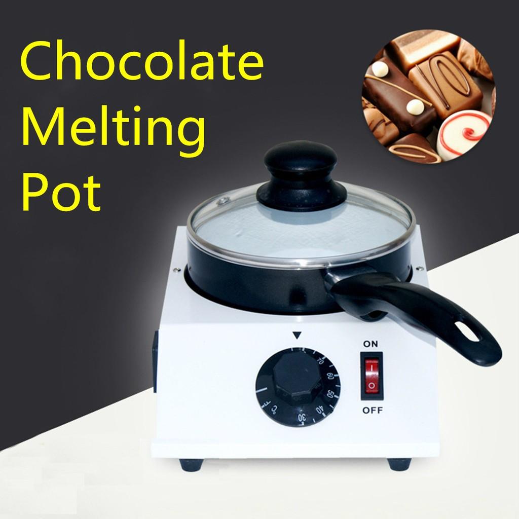 Two Oven Chocolate Melting Pot Electric Fondue Melter Machine Set Kitchen