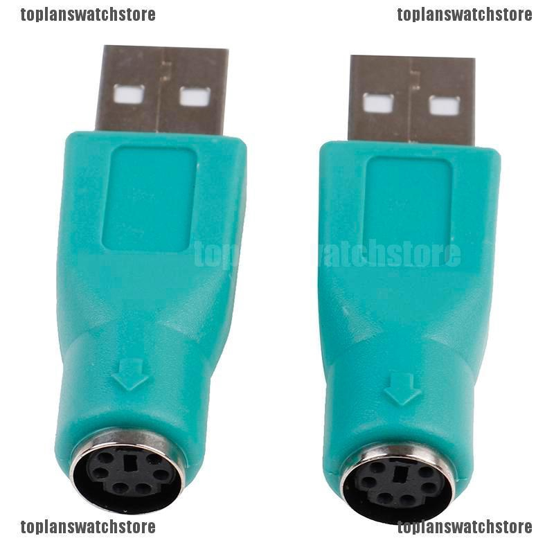 2PCS PS//2 Female to USB Male Adapters Converter For PC Computer Keyboard Mouse##
