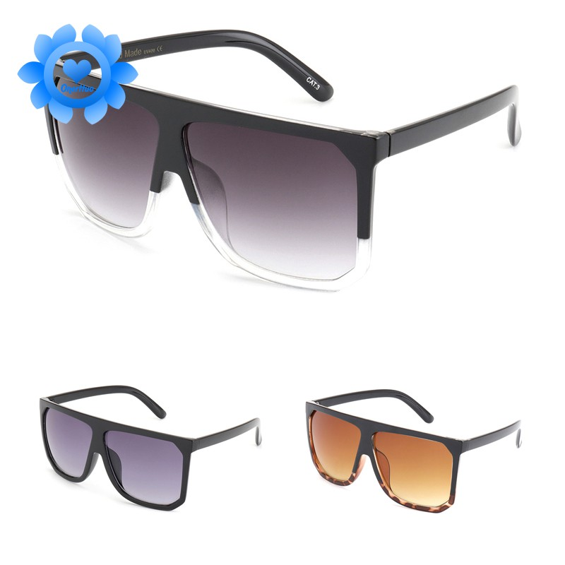 Superior Square Flat Oversized Pilot Design Mens Womens Sunglasses 100/%UV400 003