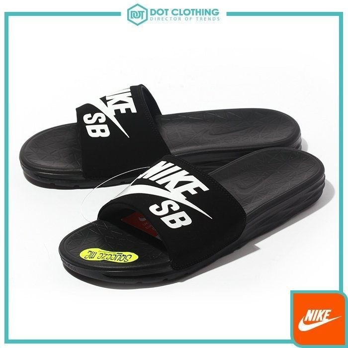 4764508c96d8 DOT Focus Nike benassi solarsoft Slide Black soft bottom slippers Black  705474 - 091