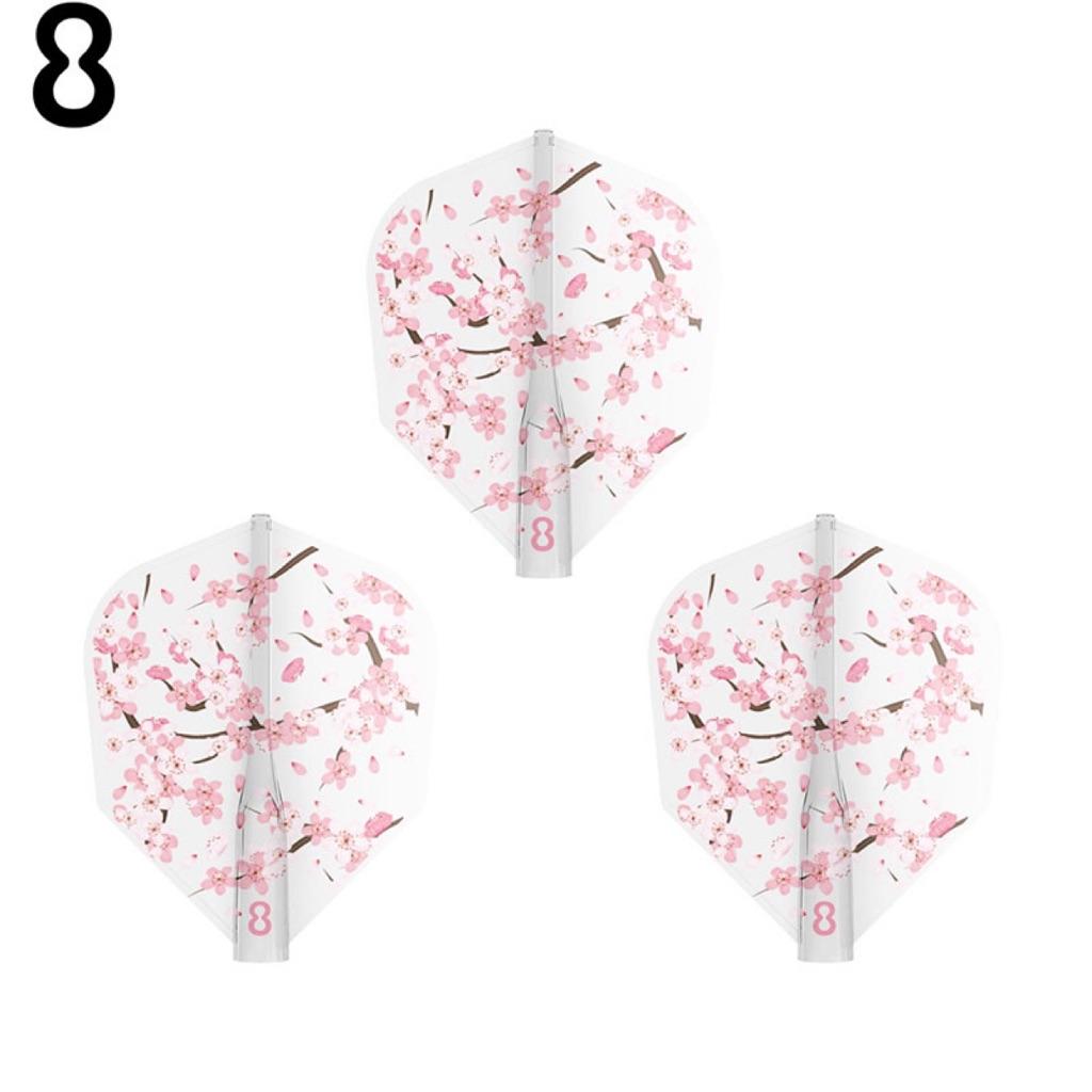 8 Flight Cherry Blossom Day Sakurabiyori Clear No 6 Dart Flights
