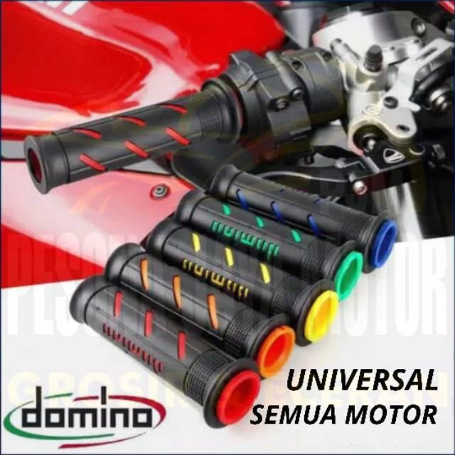 Handgrip Motor Handgrip Domino Universal Line Nmax Aerox Pcx Vario R15 Vixion Cbr150r Ninja Etc Shopee Singapore