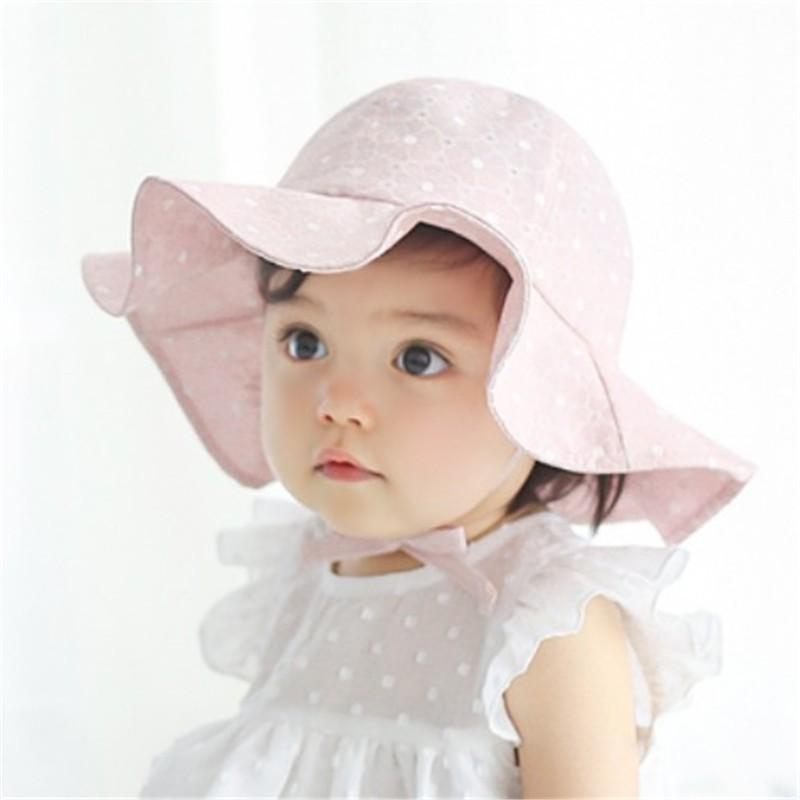 1077ac972 New Infant Kids Sun Cap Summer Outdoor Baby Girls Boys Sun Beach Cotton Hat