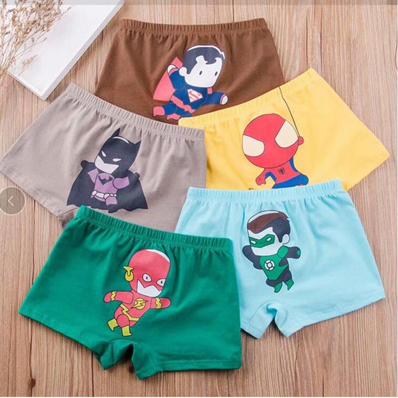 4 Pcs/Lot Cartoon Batman Superman Kids Boy Underwear Boxer Underpants Briefs  Kid Cotton Kids Panties Boys Innerwear | Shopee Singapore