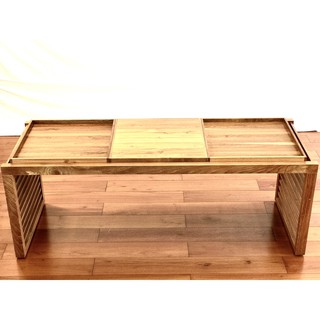 Solid Teak Wood Coffee Table, Removable Trays (Brand New ...
