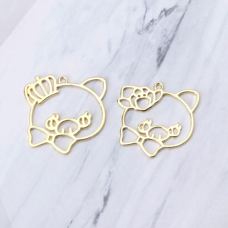 Wholesale Lot Cartoon Smiley Metal Charms Jewelry Making Pendants Earrings L377