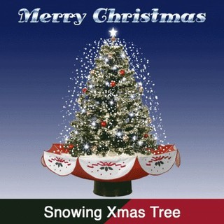 Snowing Christmas Tree.Snowing Christmas Tree With Sound Led Lights Free Ornaments