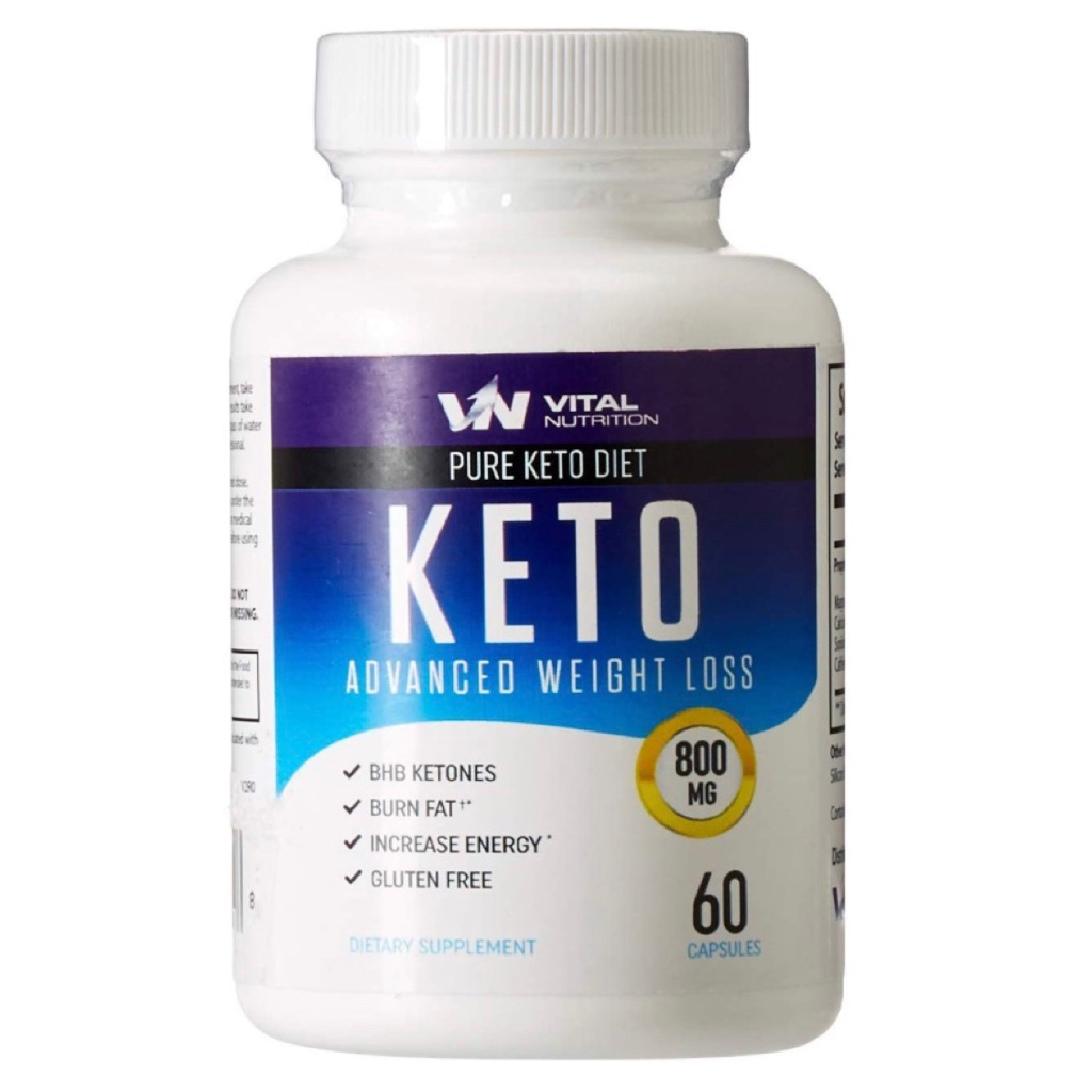 Vital Nutrition Pure Keto Pills For Weight Loss Ketosis Burn Fat 60 Caps