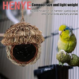 Blesiya 2 x Handwoven Straw Bird Nest Natural Pet Grass Cave Garden Decor