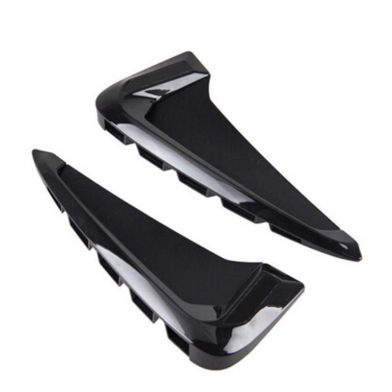 2 Side Wing Air Flow Intake Vent Trim Fender Grill Universal Black Carbon N1