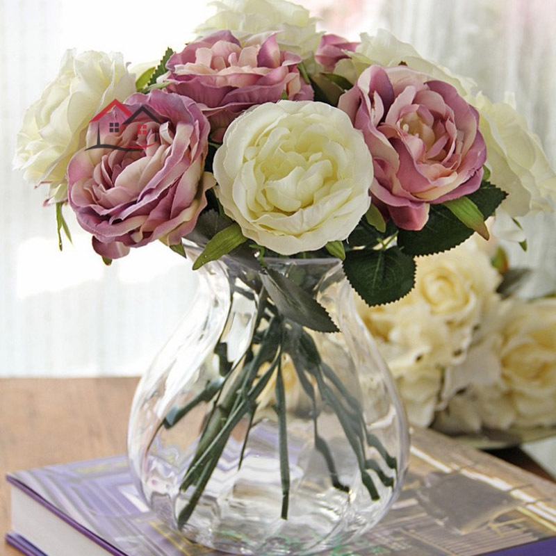 Hyp Fashion Wedding Supplies Core Artificial Rose Flower Vividly Diy Home Decoration Flowers For Birthday Party Festival Sg Shopee Singapore