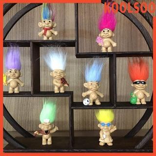10 Packs Troll Dolls Mini Action Figurine Favor Hobbyist Collectable Toys