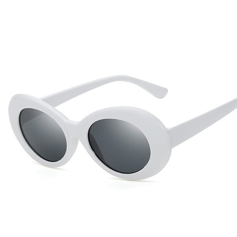 c0b70c15bd397 Oval Shades Grunge Frames Rapper Retro Sunglasses Clout Goggles ...