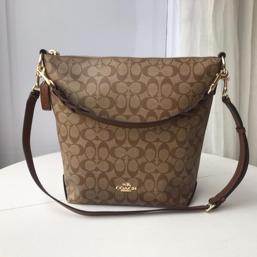 DABUOT Bucket Bag Leather Handbag Large Capacity Cowhide Simple Contrast Color Shoulder Slung Handbag,Blackwithwhite