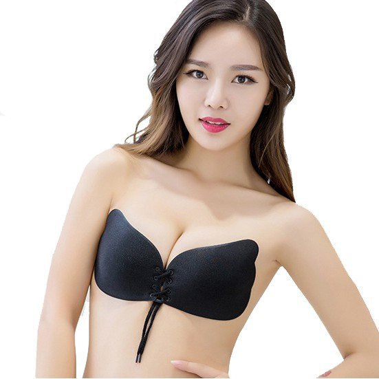 916acf6c9e Silicone Adhesive Sponge Strapless Invisible Push Up Bra Underwear Stick On