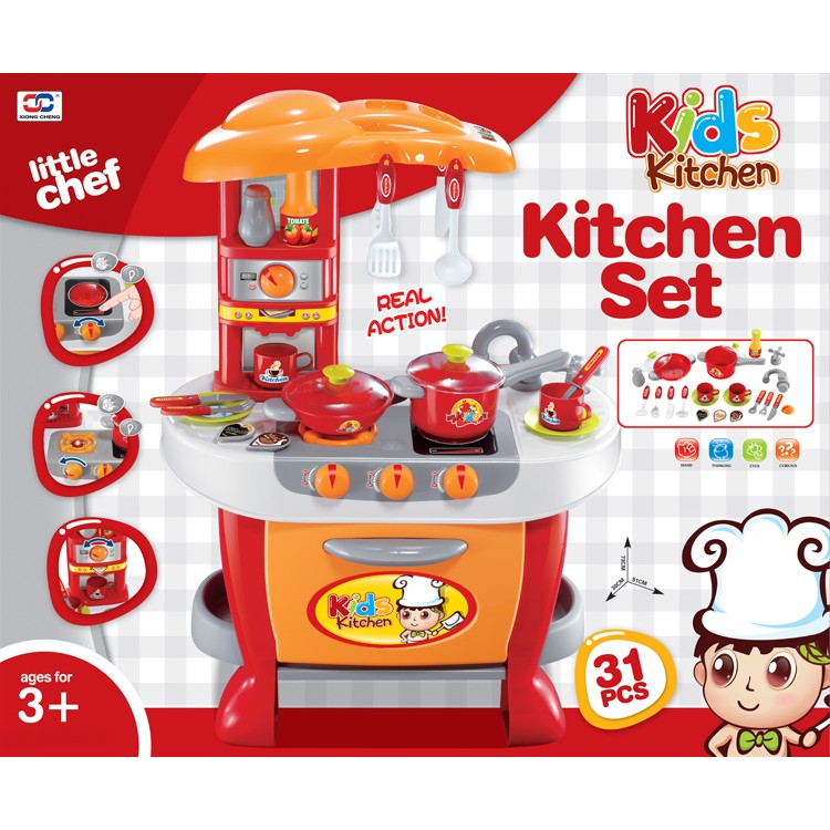 Imp House Kids Toy Little Chef Kitchen Set Orange 008 801a