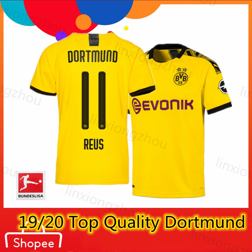 9e724433344 Top Quality 19/20 and 18/19 Dortmund BVB Home Soccer Jersey Football Jersey  | Shopee Singapore