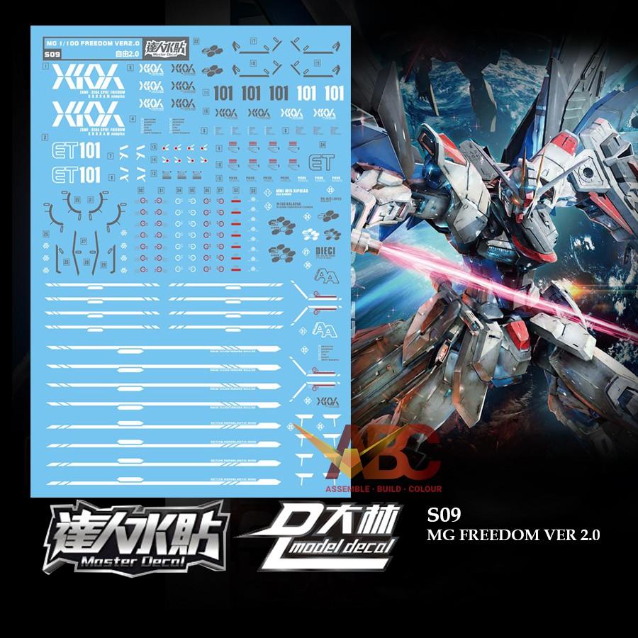 Dalin Waterslide Decal S09 Mg 1 100 Gundam Zgmf X10a Freedom Ver 2 0 Shopee Singapore