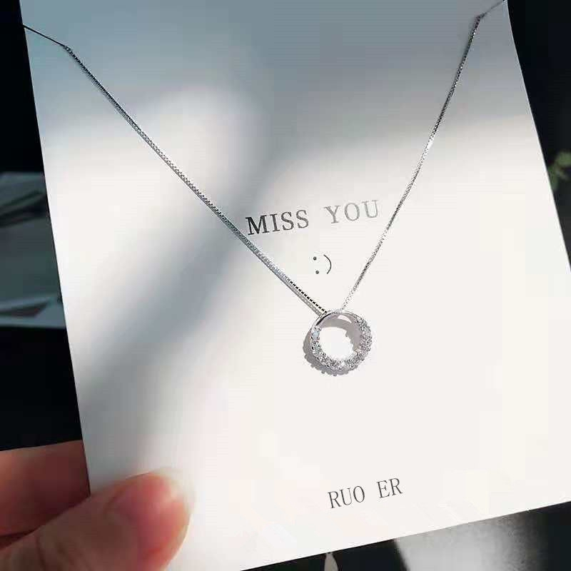 Style 123176 Diamontrigue Jewelry: 2020 Necklace COD Girl Korean Version Simple Chain Silver