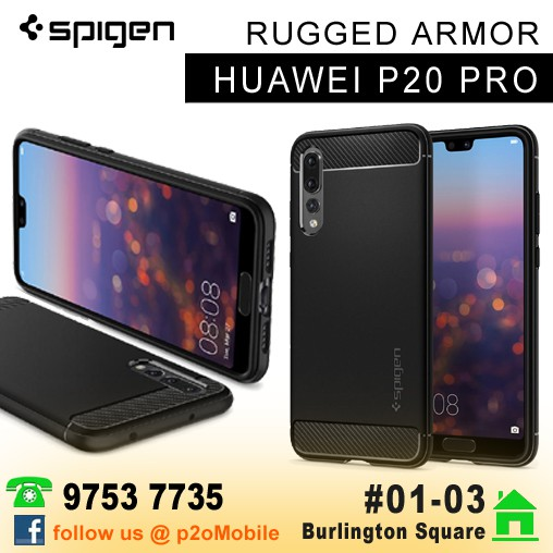 detailing ac99d ae4b9 Spigen Rugged Armor for Huawei P20 Pro