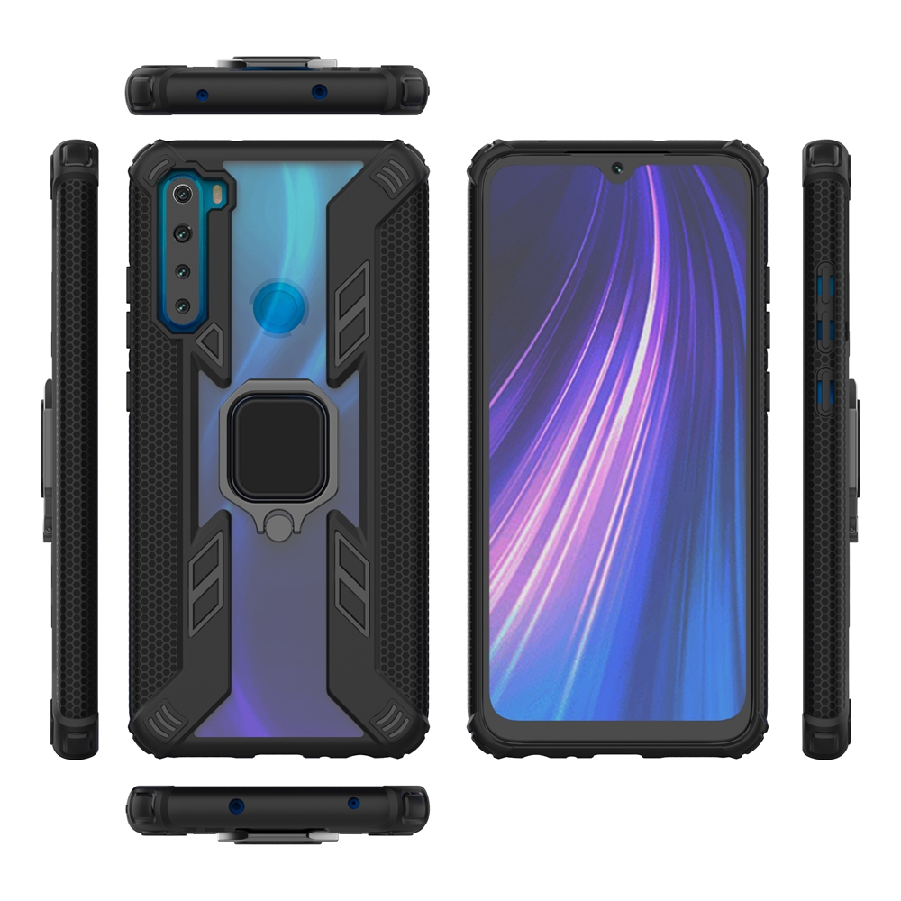 Xiaomi Redmi Note 8 Pro Finger Ring Stand Case Cover Magnetic Back Cover Car Bracket Hard Case Shopee Singapore