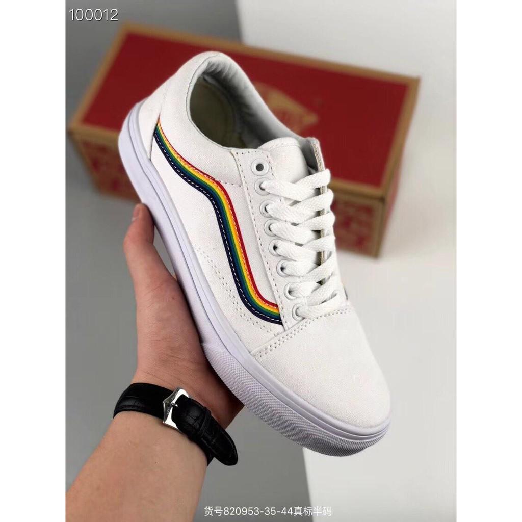 2a1cc68ee99 vans old skool Men s and women s casual shoes rainbow