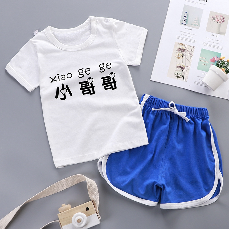 UK Summer Newborn Kid Baby Boy Clothes Sleeveless Hooded Tops+Shorts Outfits JIE