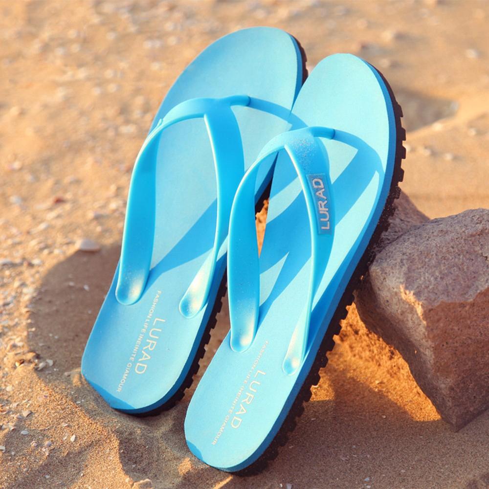 22df774b3905 LURAD 2018 Summer Beach Slippers Shoes Casual Flip Flops Men  s Sandals  Shoes