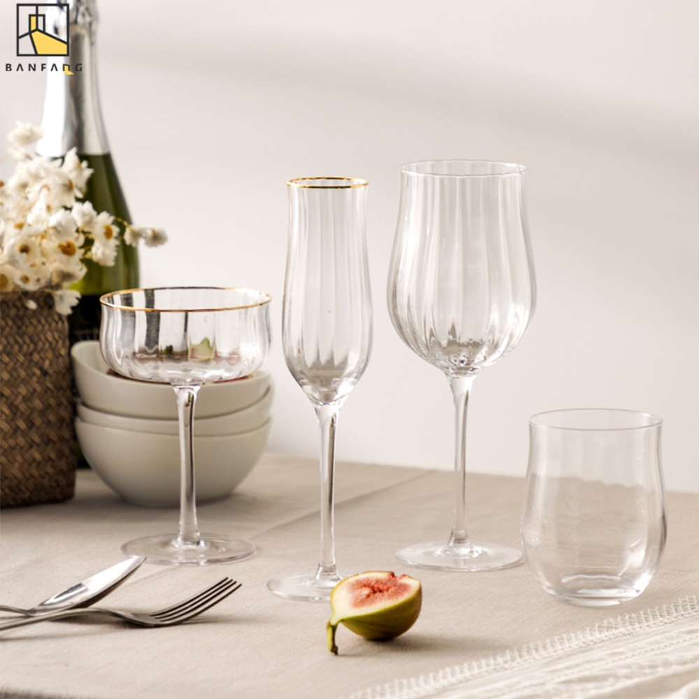 Banfang Creative Ins Red Wine Glass Household Goblet Champagne Glass Foreign Wine Glass Lead Free Crystal Glass Shopee Singapore