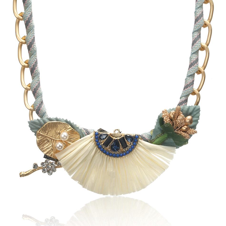 Fashion Ethnic style Vintage Boho Collar Choker Silver statement Necklace TGS