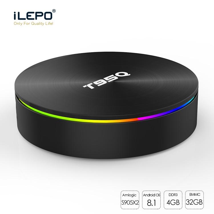 T95Q Android8.1 BT4.1 Quad Core 32G Smart TV Box UHD 4K HD 1080p WiFi+i8KEYBOARD