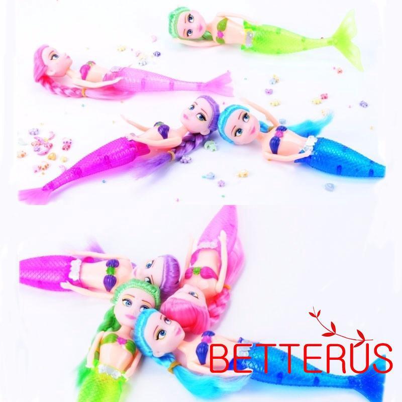 LED Swimming Toy Luminous Mermaid Doll Shower Fun Waterproof Bath Pool Kid Gift