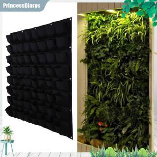 64 Pocket Hanging Vertical Garden Planter Indoor Outdoor Herb Pot Decor