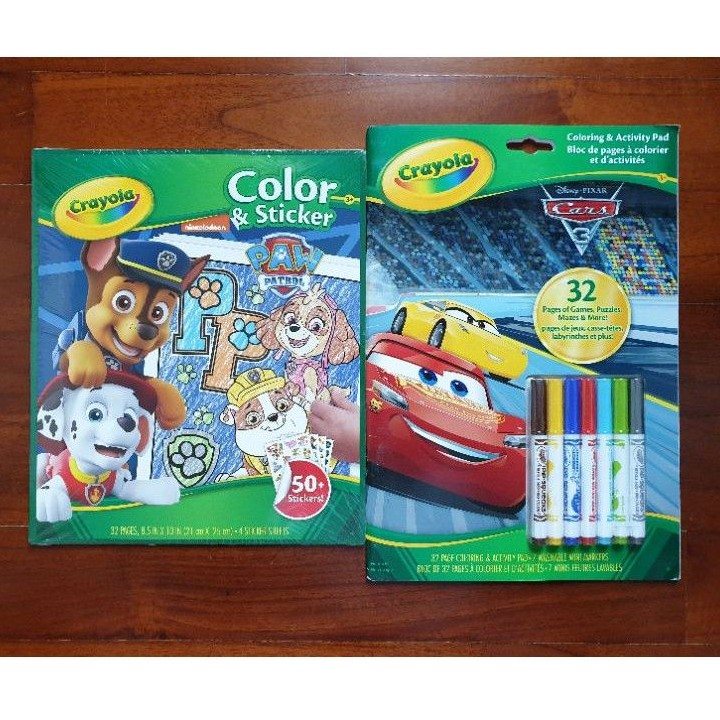 Paw Patrol Crayola Color Sticker Cars Coloring Activity Pad Shopee Singapore