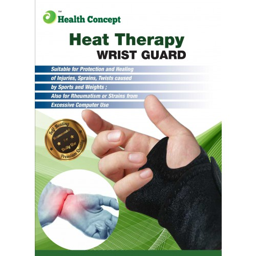 Health Concept Heat Therapy Wrist Guard Protects Wrist Injuries