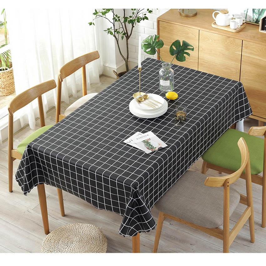 Waterproof Pvc Plaid Table Cloth Cover