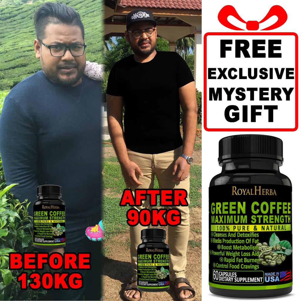 Original Pure Green Coffee Bean Maximum Strength Weight Loss Pills